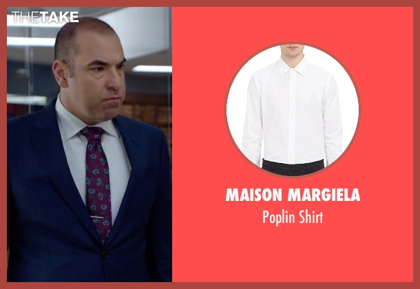 Maison Margiela white shirt from Suits seen with  Louis Litt (Rick Hoffman)