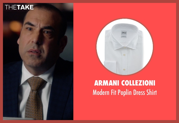 Armani Collezioni white shirt from Suits seen with  Louis Litt (Rick Hoffman)