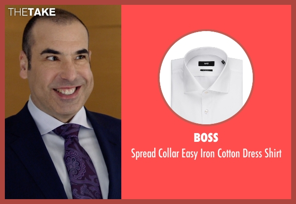 Boss white shirt from Suits seen with  Louis Litt (Rick Hoffman)