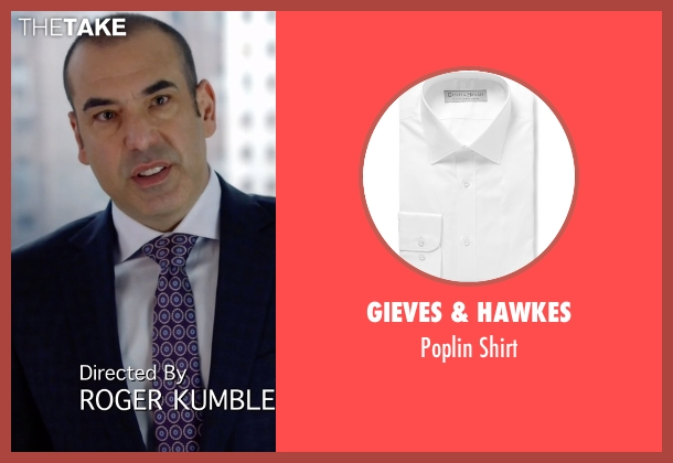 Gieves & Hawkes white shirt from Suits seen with  Louis Litt (Rick Hoffman)