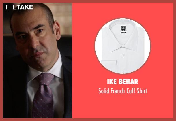 Ike Behar white shirt from Suits seen with  Louis Litt (Rick Hoffman)