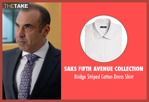 Saks Fifth Avenue Collection white shirt from Suits seen with  Louis Litt (Rick Hoffman)