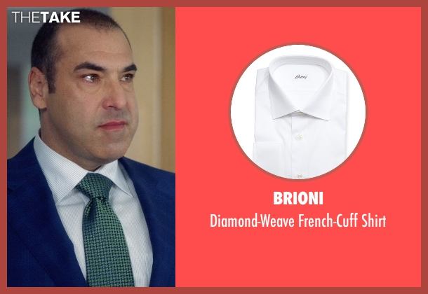 Brioni white shirt from Suits seen with  Louis Litt (Rick Hoffman)