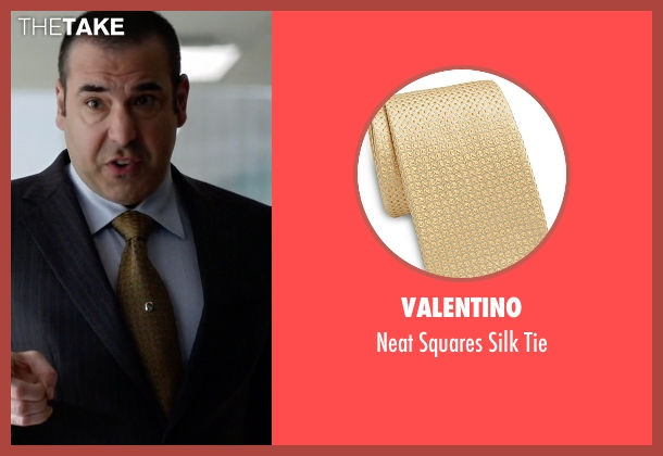 Valentino yellow tie from Suits seen with  Louis Litt (Rick Hoffman)