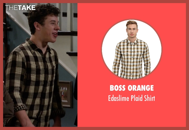 Boss Orange beige shirt from Modern Family seen with  Luke Dunphy (Nolan Gould)