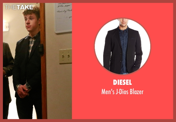 Diesel black blazer from Modern Family seen with  Luke Dunphy (Nolan Gould)