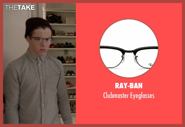 Ray-Ban black eyeglasses from Modern Family seen with  Luke Dunphy (Nolan Gould)