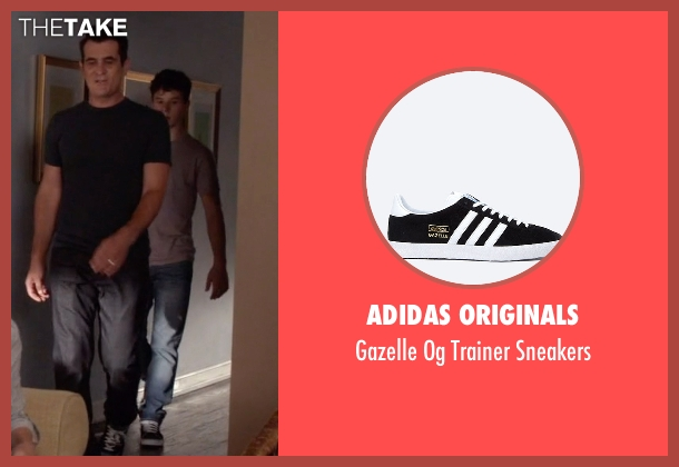 Adidas Originals black sneakers from Modern Family seen with  Luke Dunphy (Nolan Gould)