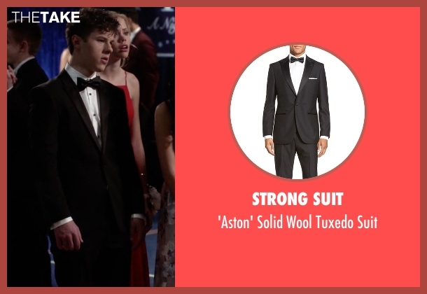 Strong Suit black suit from Modern Family seen with  Luke Dunphy (Nolan Gould)