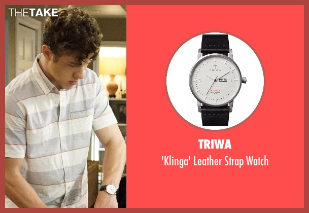 Triwa black watch from Modern Family seen with  Luke Dunphy (Nolan Gould)