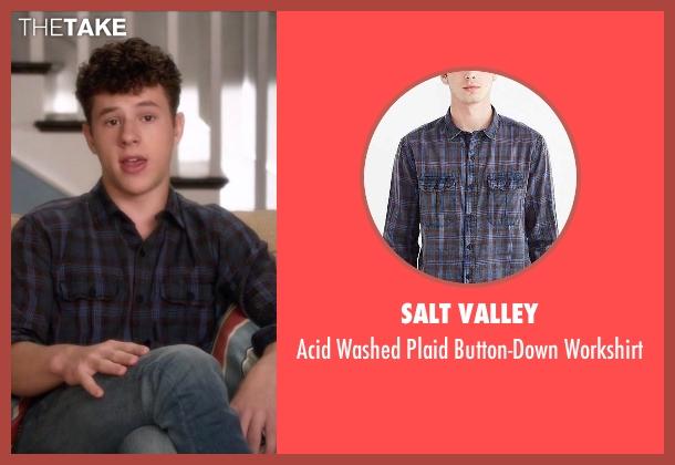 Salt Valley black workshirt from Modern Family seen with  Luke Dunphy (Nolan Gould)