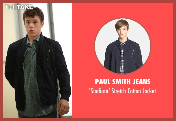 Paul Smith Jeans blue jacket from Modern Family seen with  Luke Dunphy (Nolan Gould)