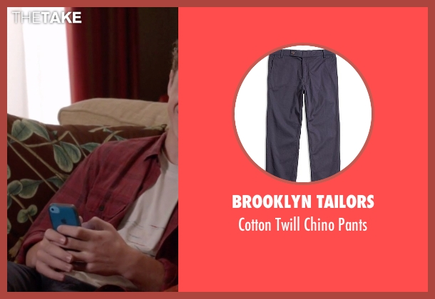 Brooklyn Tailors blue pants from Modern Family seen with  Luke Dunphy (Nolan Gould)