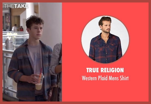 True Religion blue shirt from Modern Family seen with  Luke Dunphy (Nolan Gould)