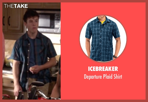 Icebreaker blue shirt from Modern Family seen with  Luke Dunphy (Nolan Gould)