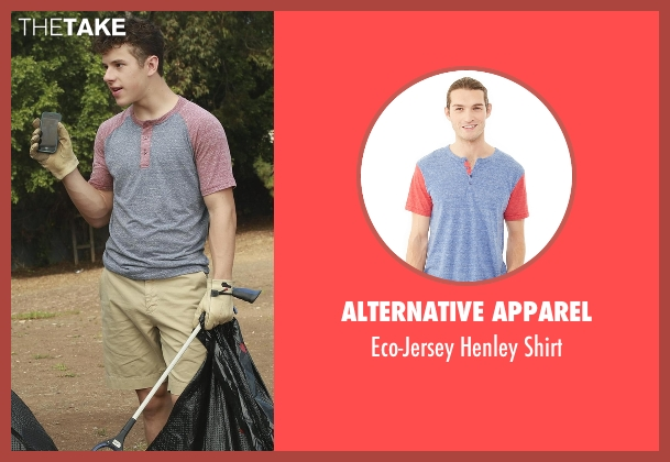 Alternative Apparel blue shirt from Modern Family seen with  Luke Dunphy (Nolan Gould)