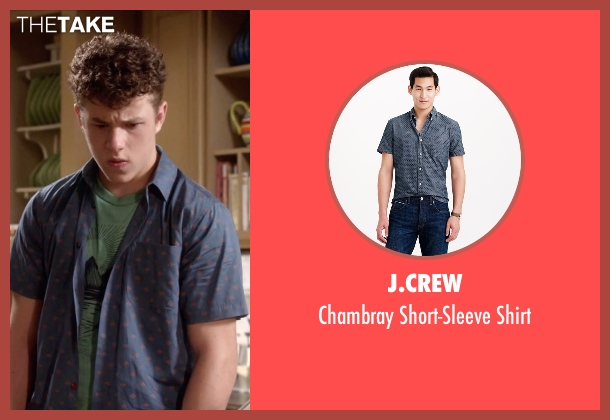 J.Crew blue shirt from Modern Family seen with  Luke Dunphy (Nolan Gould)