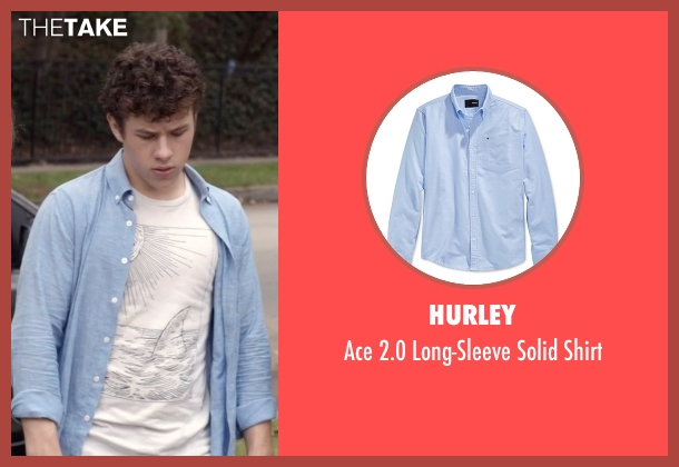 Hurley blue shirt from Modern Family seen with  Luke Dunphy (Nolan Gould)