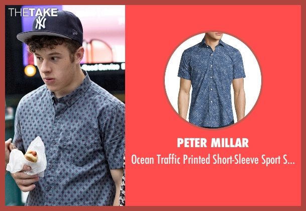 Peter Millar blue shirt from Modern Family seen with  Luke Dunphy (Nolan Gould)