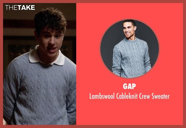 Gap blue sweater from Modern Family seen with  Luke Dunphy (Nolan Gould)