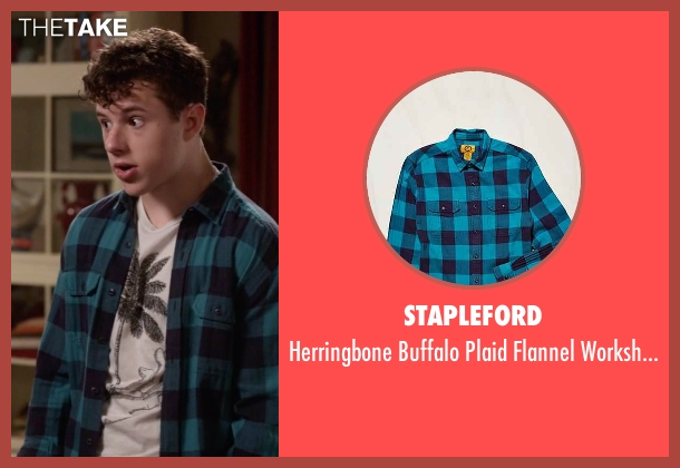 Stapleford blue workshirt from Modern Family seen with  Luke Dunphy (Nolan Gould)