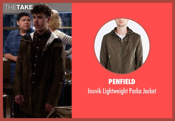 Penfield brown jacket from Modern Family seen with  Luke Dunphy (Nolan Gould)