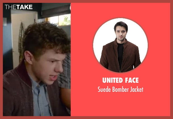 United Face brown jacket from Modern Family seen with  Luke Dunphy (Nolan Gould)