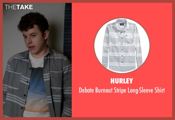 Hurley gray shirt from Modern Family seen with  Luke Dunphy (Nolan Gould)