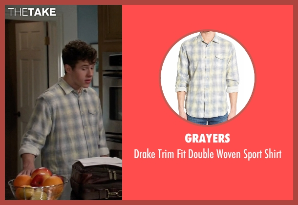 Grayers gray shirt from Modern Family seen with  Luke Dunphy (Nolan Gould)