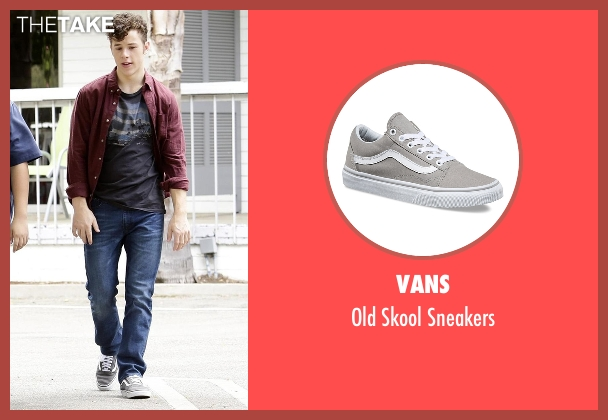 Vans gray sneakers from Modern Family seen with  Luke Dunphy (Nolan Gould)