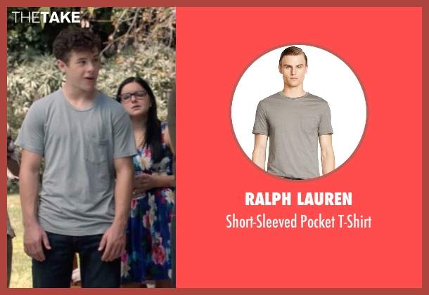 Ralph Lauren gray t-shirt from Modern Family seen with  Luke Dunphy (Nolan Gould)
