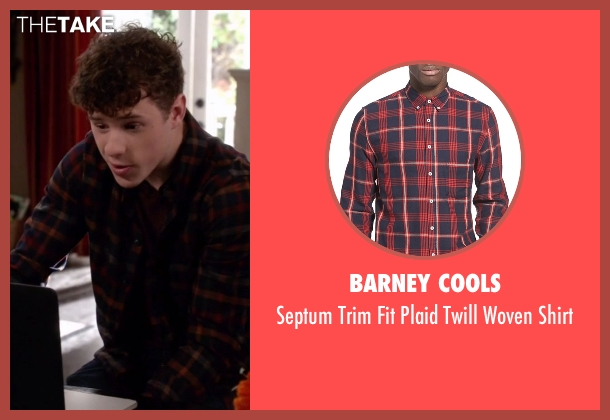 Barney Cools red shirt from Modern Family seen with  Luke Dunphy (Nolan Gould)