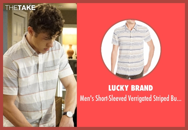 Lucky Brand  white shirt from Modern Family seen with  Luke Dunphy (Nolan Gould)