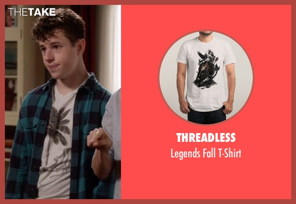 Threadless white t-shirt from Modern Family seen with  Luke Dunphy (Nolan Gould)