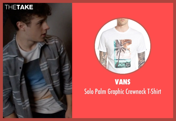 Vans white t-shirt from Modern Family seen with  Luke Dunphy (Nolan Gould)