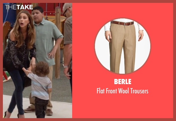 Berle beige trousers from Modern Family seen with  Manny Delgado  (Rico Rodriguez)