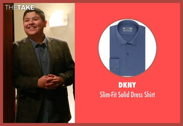 DKNY blue shirt from Modern Family seen with  Manny Delgado  (Rico Rodriguez)