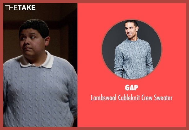 Gap blue sweater from Modern Family seen with  Manny Delgado  (Rico Rodriguez)