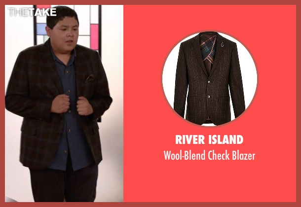 River Island brown blazer from Modern Family seen with  Manny Delgado  (Rico Rodriguez)