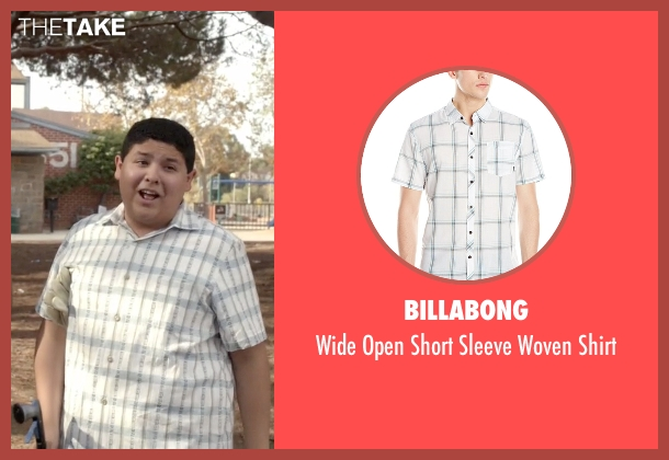Billabong white shirt from Modern Family seen with  Manny Delgado  (Rico Rodriguez)