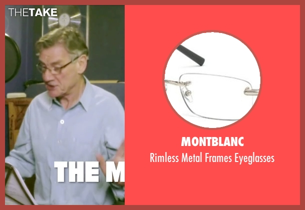 Montblanc black eyeglasses from Absolutely Anything seen with  Michael Palin (Extraterrestrial (voice))