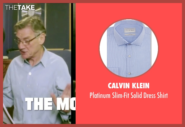 Calvin Klein blue shirt from Absolutely Anything seen with  Michael Palin (Extraterrestrial (voice))