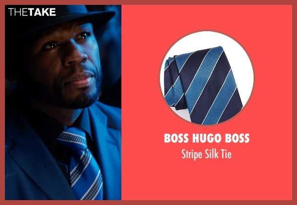 Boss Hugo Boss blue tie from Southpaw seen with 50 Cent (Unknown Character)