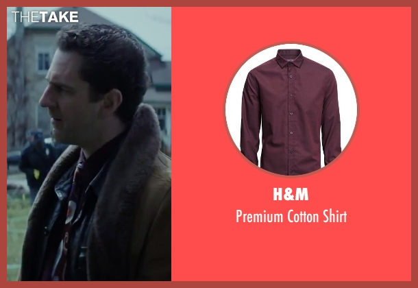 H&M red shirt from Regression seen with Aaron Abrams (Farrell)