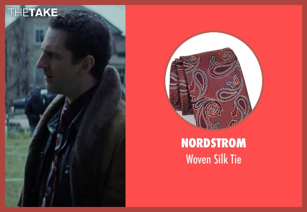 Nordstrom red tie from Regression seen with Aaron Abrams (Farrell)