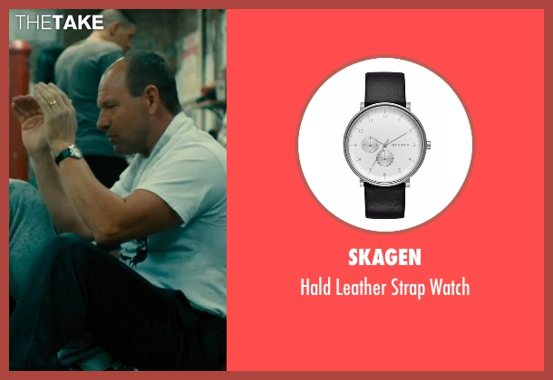 Skagen black watch from Bleed for This seen with Aaron Eckhart (Kevin Rooney)