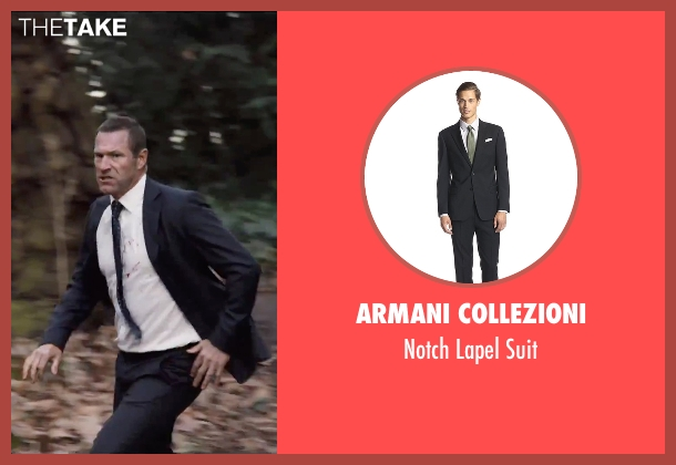 Armani Collezioni black suit from London Has Fallen seen with Aaron Eckhart (Benjamin Asher)