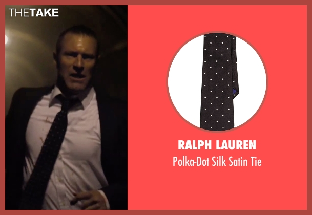 Ralph Lauren black tie from London Has Fallen seen with Aaron Eckhart (Benjamin Asher)