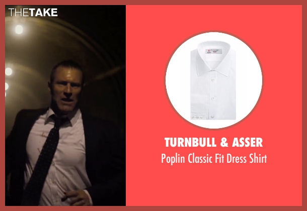 Turnbull & Asser white shirt from London Has Fallen seen with Aaron Eckhart (Benjamin Asher)