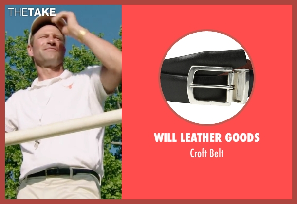 Will Leather Goods black belt from My All American seen with Aaron Eckhart (Darrell Royal)